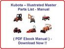 Thumbnail * KUBOTA BX2200 D BX2200D TRACTOR PARTS MANUAL - ILLUSTRATED MASTER PARTS LIST PDF MANUAL * BEST * (LA211 LOADER + MOWER inclu) - DOWNLOAD NOW!!