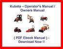 Thumbnail KUBOTA B5100D B5100E B6100D B6100E B7100D TRACTOR OPERATORS MANUAL - PDF OWNERS MANUAL - B5100 B6100 B7100 D E - DOWNLOAD!