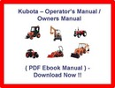 Thumbnail * KUBOTA B6200 HST B7200 HST TRACTOR - OPERATORS / OWNERS / MAINTENANCE MANUAL - B6200HST B7200SHT - PDF DOWNLOAD NOW!