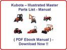 KUBOTA B26 TL500 LOADER PARTS MANUAL - INSTANT DOWNLOAD * HIGH QUALITY * !!