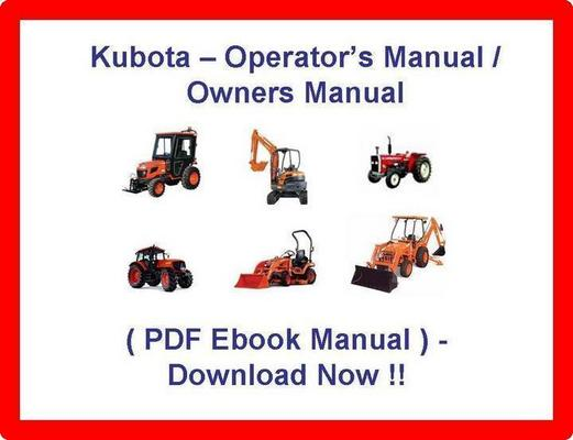 Product picture KUBOTA LA514 LA724 LA854 LOADER OPERATORS MANUAL - OWNERS MANUAL - (BEST PDF EBOOK MANUAL) - KUBOTA LA 514 LA 724 LA 854 LOADER - DOWNLOAD NOW!!