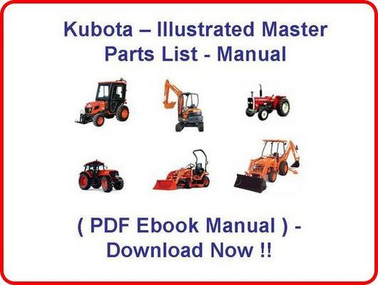 Product picture KUBOTA B26 TL500 LOADER PARTS MANUAL - INSTANT DOWNLOAD * HIGH QUALITY * !!